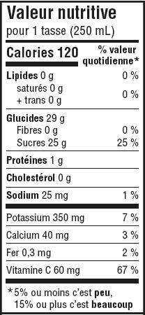 Informations nutritionnelles