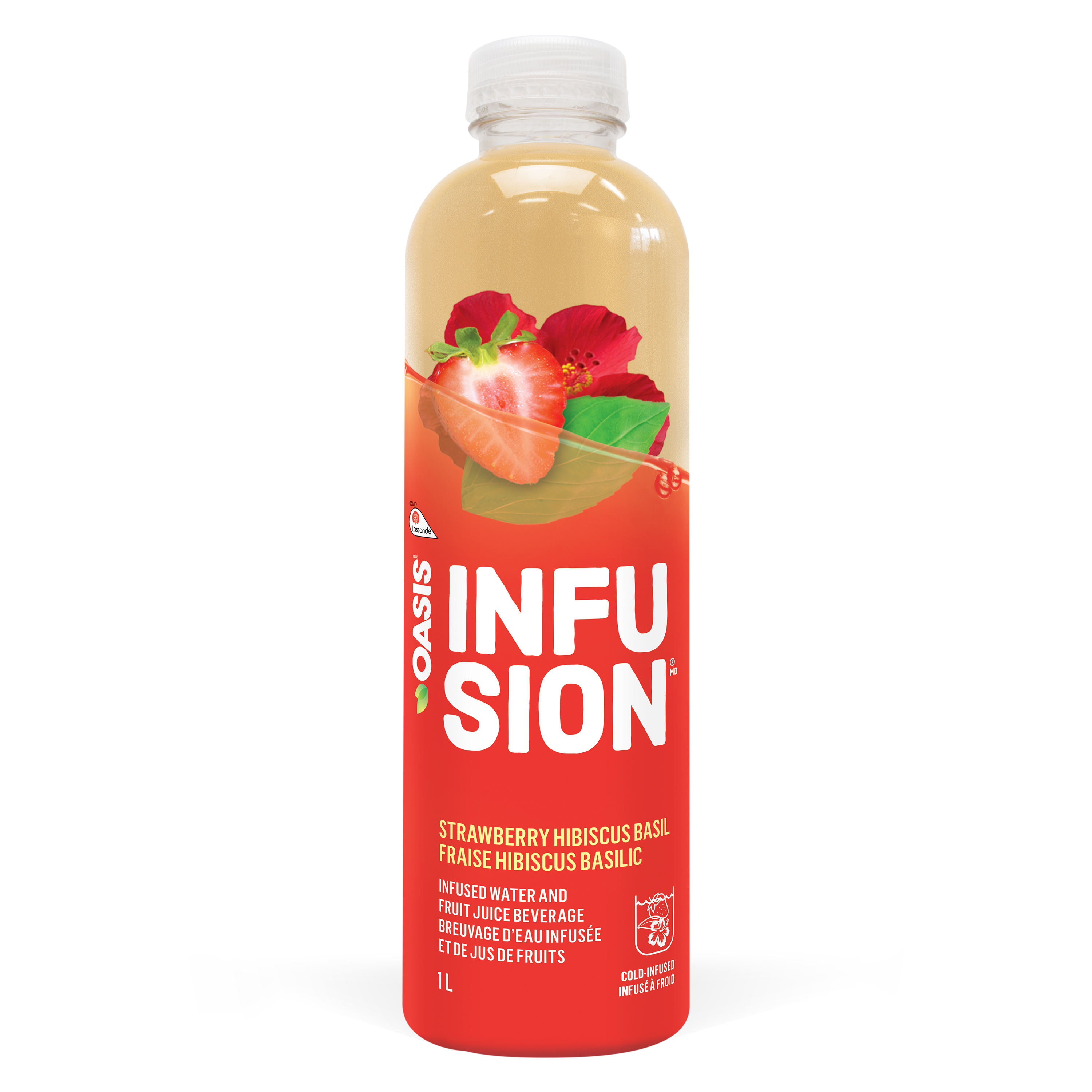 OASIS INFUSION STRAWBERRY - HIBISCUS - BASIL Plastic PET 1L
