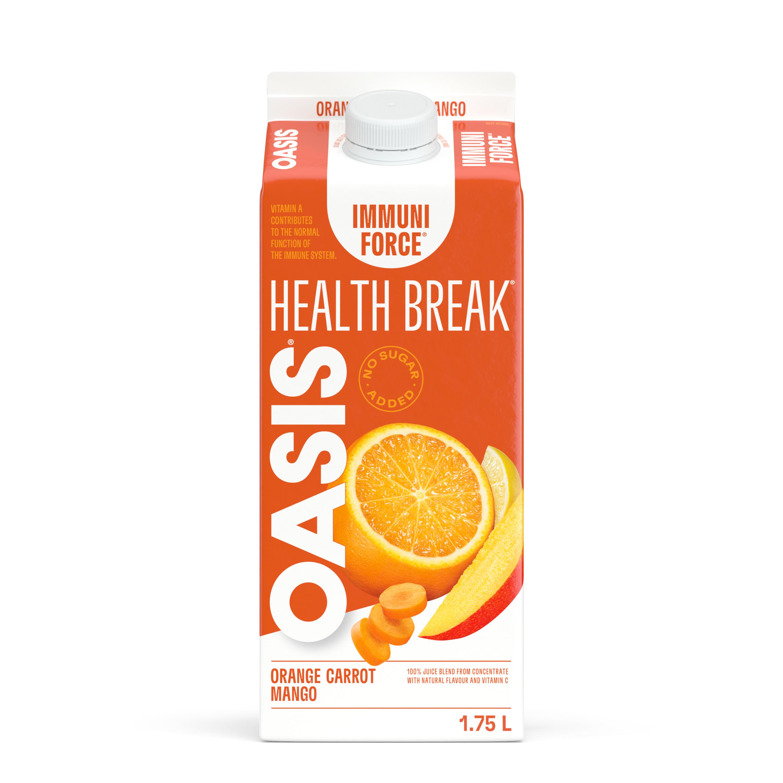 OASIS HEALTH BREAK ORANGE - CARROT - MANGO Gable Rex 1.75L